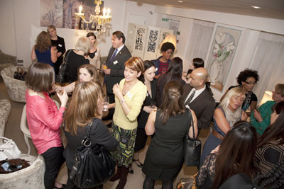 Networking at a Women 1st event